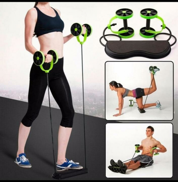 Roată dublă cu role pentru abdomen Fitness Extreme 10