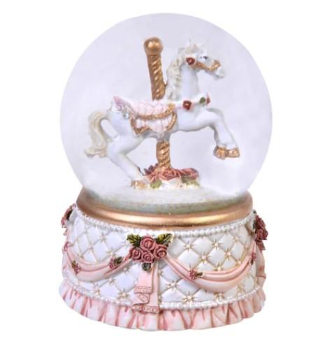 Glob ornamental de Craciun cu Lichid, model Cal, 9 cm 1