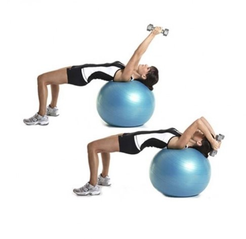 Minge fitness 65 cm, albastra 1