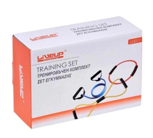 Curele cu manere pentru antrenament Liveup, maxim 130 cm 0