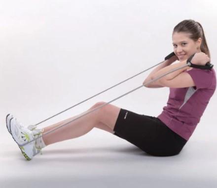 Curele cu manere pentru antrenament Liveup, maxim 130 cm 2