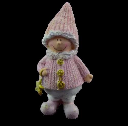 Figurina decorativa pentru Craciun realizata din ceramica – Copil [2]