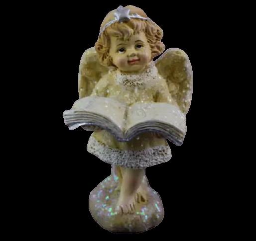Figurina decorativa din rasina- Ingeras cu carte 1