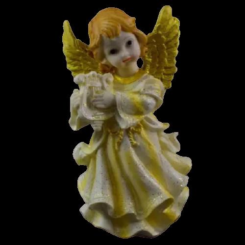 Figurina decorativa realizata din ceramica – Inger – Auriu – Diferite modele 18CM 1