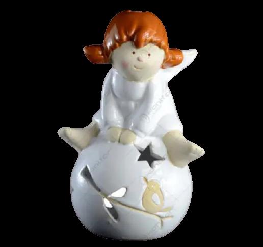 Candela realizata din ceramica – Design Inger cu glob [1]