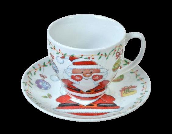 Set promo ceramica cana farfurie mos craciun 1