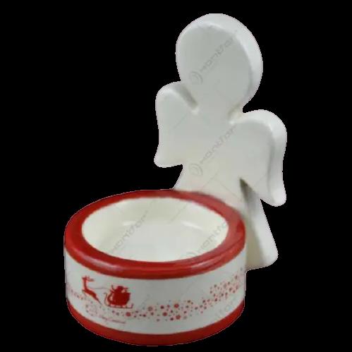 Candela realizata din ceramica in forma de inger – Design Ingeras 1