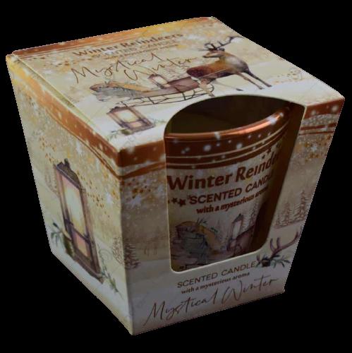 Lumanare parfumata in pahar de Craciun – Winter Reindeers 0
