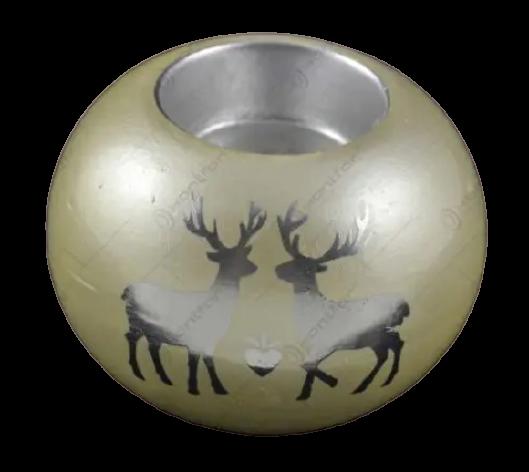 Candela in forma de glob realizat din ceramica – Design cu reni 1