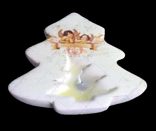 Candela pentru lumanare realizata din ceramica – Design Brad & Ingeri 1