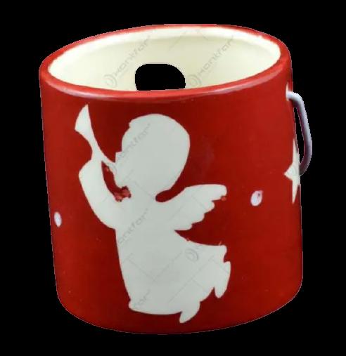 Candela realizata din ceramica cu maner – Design Ingeras [1]