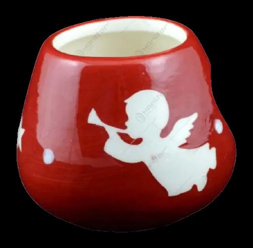 Candela rotunda realizata din ceramica – Design Ingeras 1