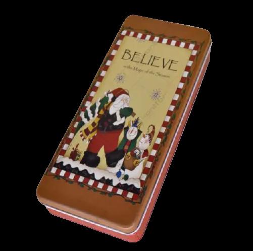 Cutie metalica pentru cadouri 24×10 CM – Design Craciun 2