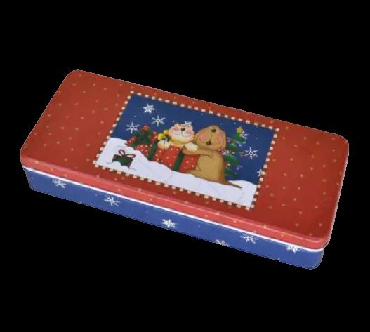 Cutie metalica pentru cadouri 24×10 CM – Design Craciun 3