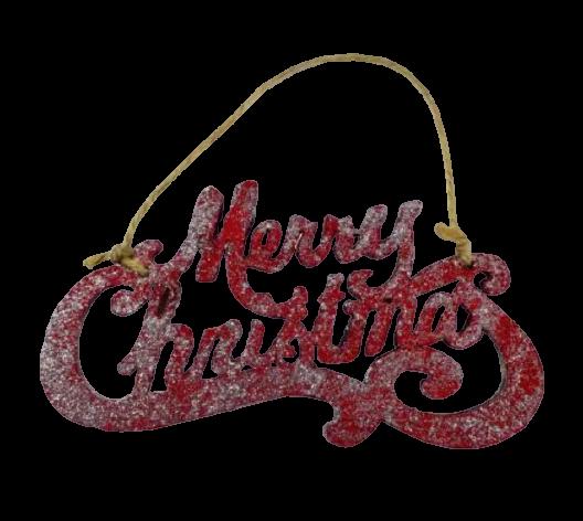 """Decoratiune de agatat realizat din lemn pentru usa/geam – Design Craciun cu mesajul """"Merry Christmas"""" – Rosu 0"""