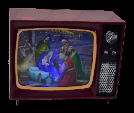 Decoratiune cu led in forma de televizor – Design Craciun 0
