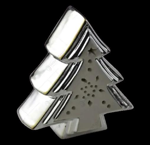Decoratiune de craciun realizata din ceramica – Brad cu led 1