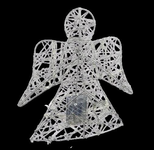 Decor masa inger cu 30 de leduri – Argintiu 0