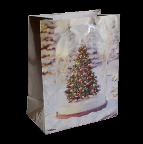 Punga pentru cadouri medie – Design cu brad [0]