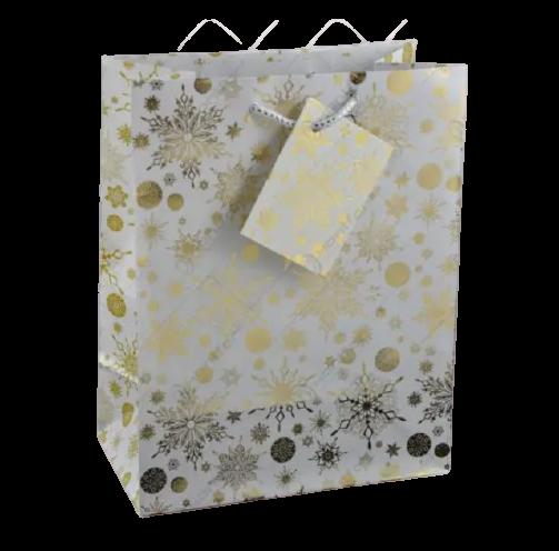 Punga pentru cadouri – Design cu fulgi zapada 0