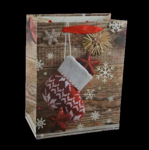 Punga pentru cadouri medie – Design cu fulgi zapada 0