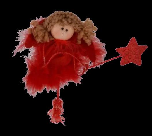 Decoratiune pentru Craciun – Ingeras cu bagheta stea 0