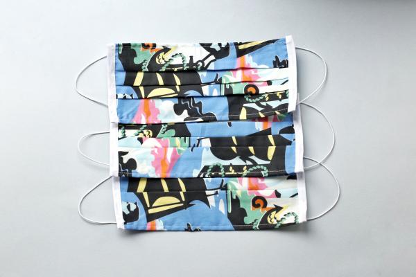 Set 5 x Mască pentru față reutilizabilă cu 2 straturi din bumbac #9 3