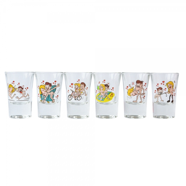 Set 6 Pahare Shot-uri Kamasutra #1 35 ML 2