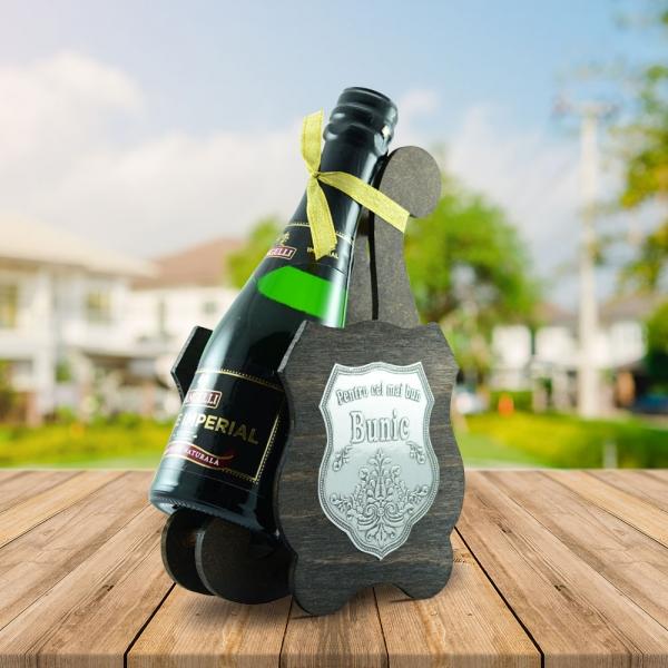 Sticla De Vin Spumant + Suport - Cel Mai Bun Bunic - 0.2L 1
