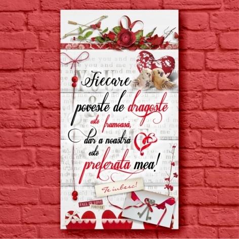 Tablou Poveste De Dragoste 50x27 CM 0