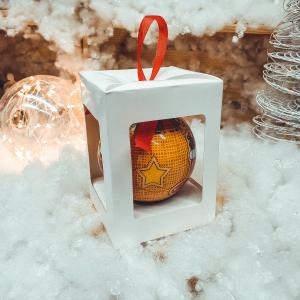 Glob decorativ din plastic in cutie