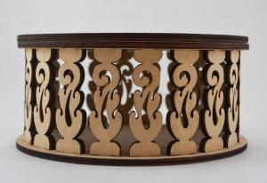 Cutie bijuterii din lemn cu model2