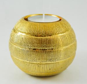 Candela realizata din sticla in forma de glob – Auriu