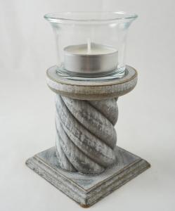 Suport pentru lumanare realizat din lemn – Design rustic 12 CM0