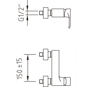 Baterie de dus PAULA1