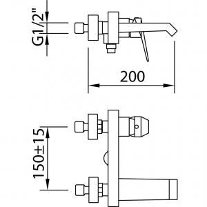 Baterie pentru cada VENTU1