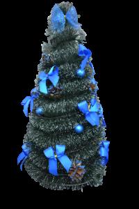 Brad artificial cu instalatie - Design Albastru2