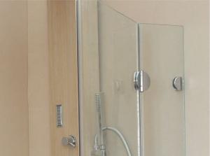 Cabină de duș Alux 100x100 cu o ușă - sticlă securizată1