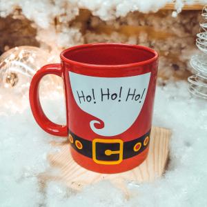 Cana ceramica rosie craciun Ho Ho Ho0