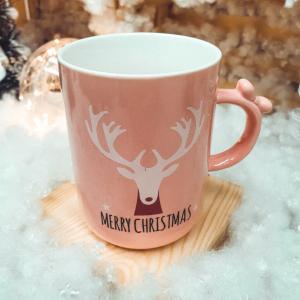 Cana roz Merry Christmas - Design ren0