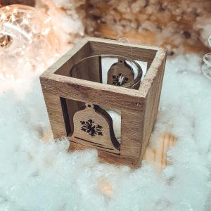Candela realizata din lemn si din sticla0
