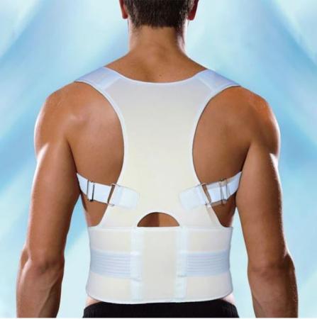 Corector de postura pentru spate si talie, Reglabil, Unisex, Alb [0]