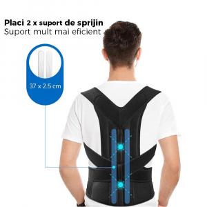 Corector de postură cu 2 x Bare Suport, ameliorează durerile de spate, îmbunătățește postura6