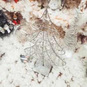 Decor masa brad cu 20 de leduri – Argintiu0
