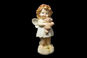 Figurina realizata din rasina – Design inger cu ursulet1