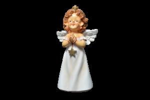 Figurina decorativa din rasina- Ingeras care se roaga1