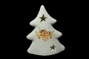 Candela pentru lumanare realizata din ceramica – Design Brad & Ingeri2