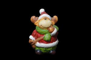 Figurina decorativa realizata din ceramica in forma de ren – Design cu caciula