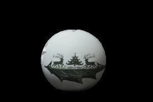Candela in forma de glob realizata din ceramica – Design Craciun