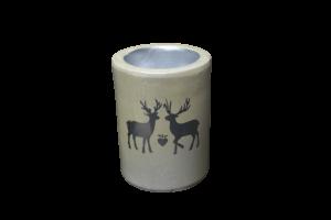 Candela realizata din ceramica – Design Ren – Cilindru1